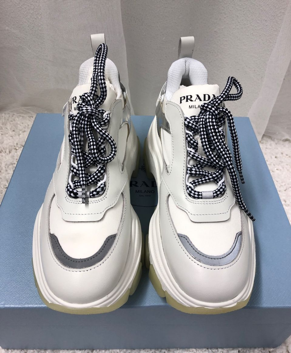 Prada Pegasus leather sneakers P00404424