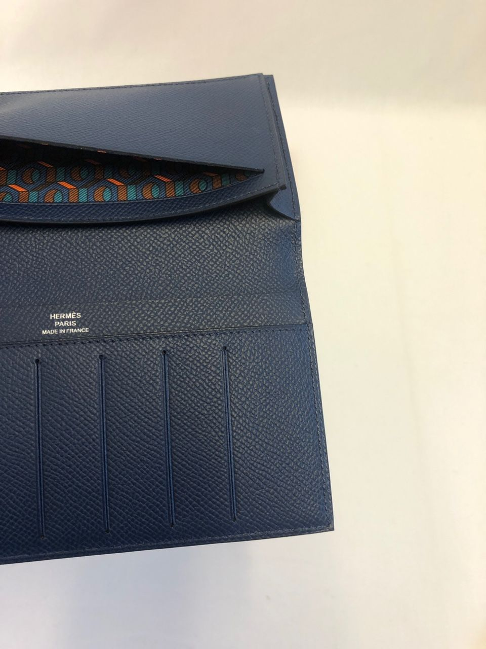 Hermes Brieftasche Citizen Twill Long bleu de Malte/deep blue/vert Bosphore H074607CAAC