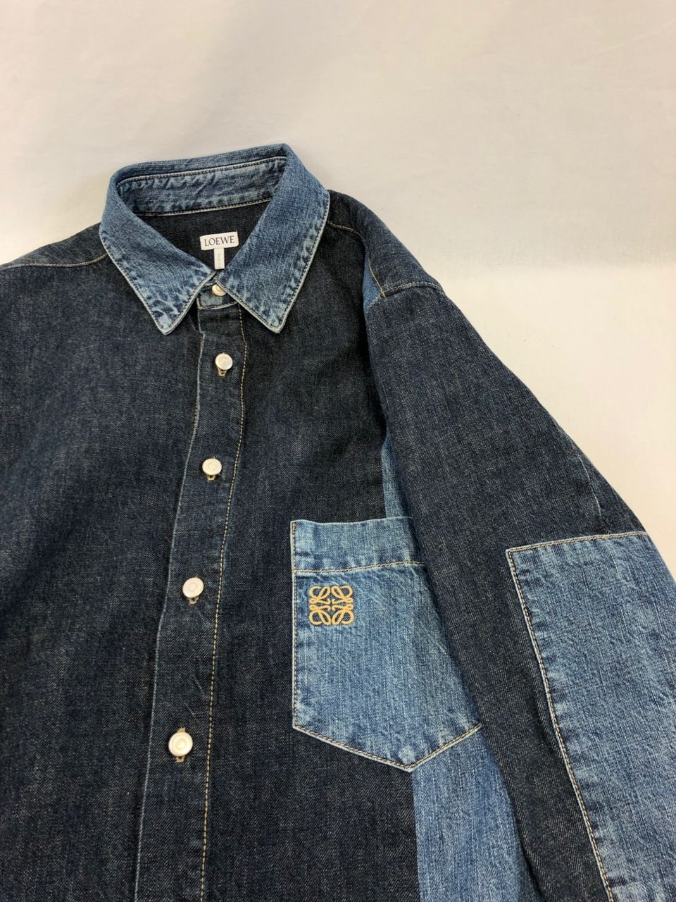 Loewe Patch pocket denim shirt P00446118