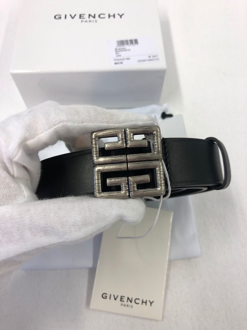 Givenchy Leather 4G belt P00442169