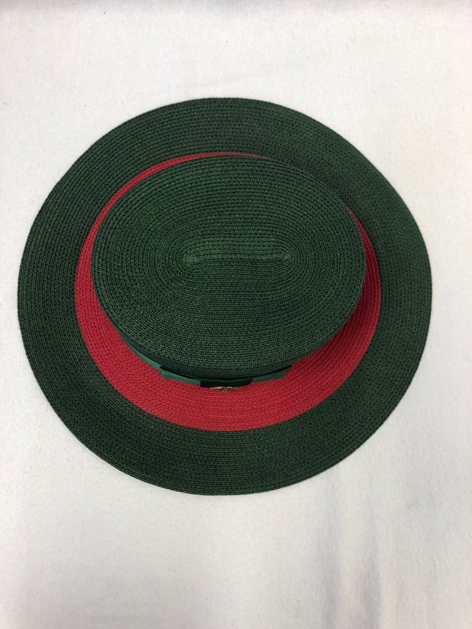 Gucci Papier wide brim hat green/red papier Style # 454667 3HF58 3066