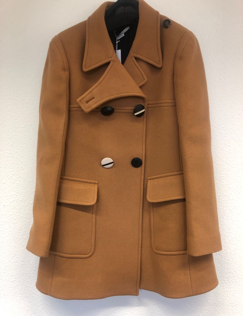 Stella McCartney Nyla double-breasted wool-felt coat Tan 1261983