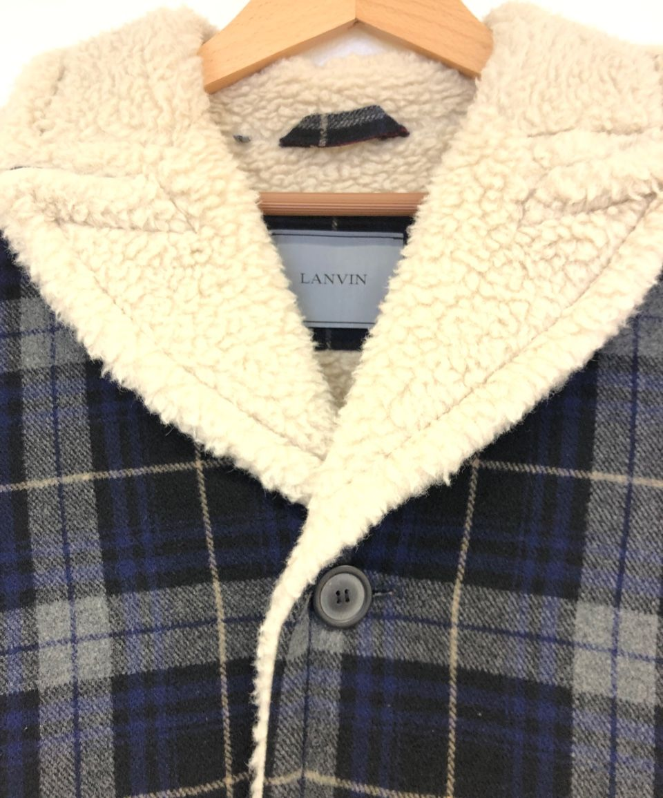LANVIN Checked Sherling Wool Jacket 54406210a_300x300