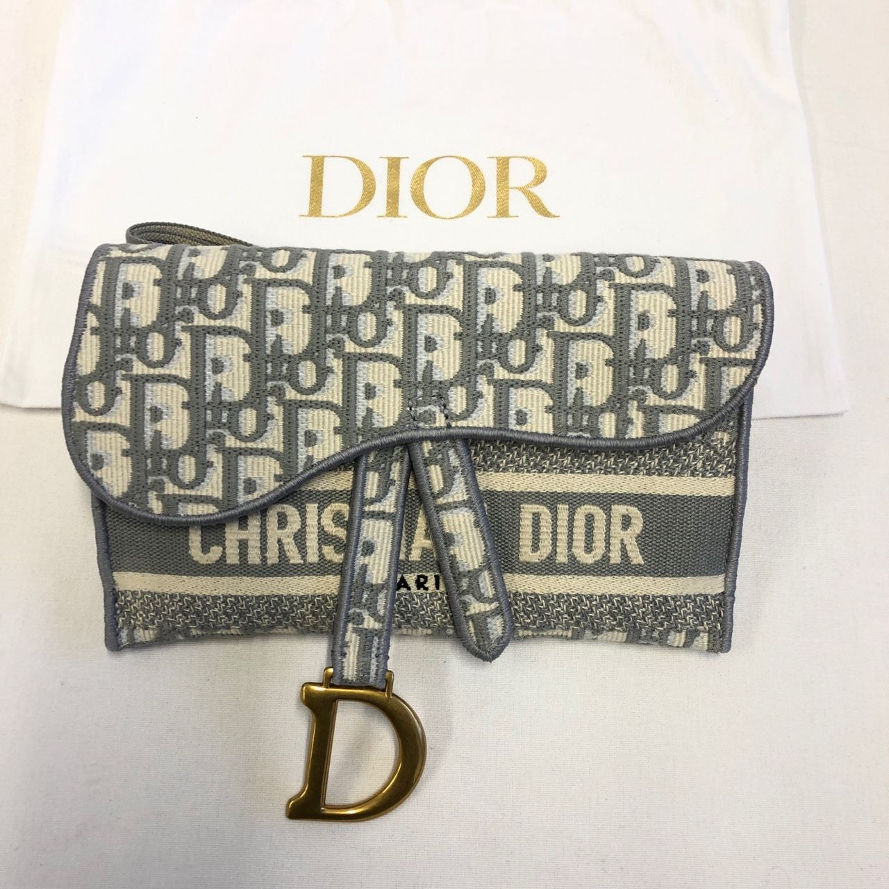 Dior Schmale Saddle Clutch S5647CRIW_M928_TU