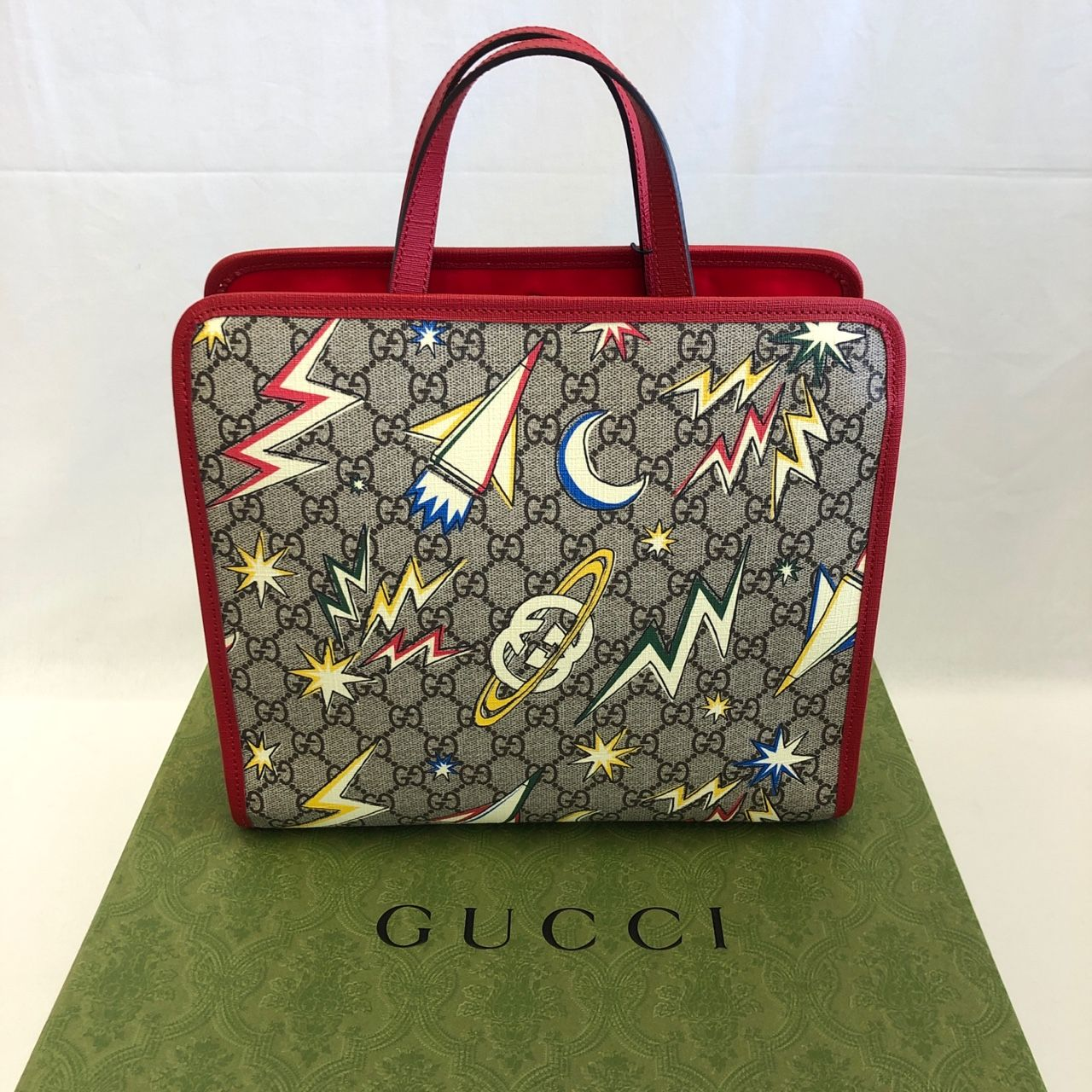 Gucci Childrens GG space print tote bag GG Supreme space print Style # 605614 2DHAN 9693